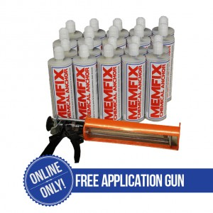 20 tubes of Harbro Memfix supplied complete with a 380ml Applicator Gun.